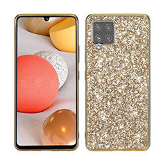 Coque Silicone et Plastique Housse Etui Protection Integrale 360 Degres Bling-Bling pour Samsung Galaxy A42 5G Or