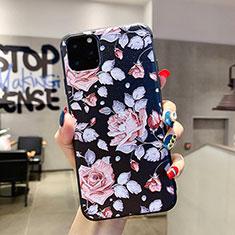 Coque Silicone Fleurs Souple Couleur Unie Etui Housse H02 pour Apple iPhone 11 Pro Max Rose