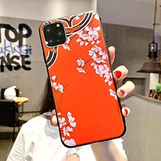 Coque Silicone Fleurs Souple Couleur Unie Etui Housse H05 pour Apple iPhone 11 Pro Max Orange
