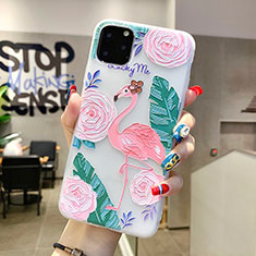 Coque Silicone Fleurs Souple Couleur Unie Etui Housse H10 pour Apple iPhone 11 Pro Max Vert