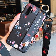 Coque Silicone Fleurs Souple Couleur Unie Etui Housse K01 pour Samsung Galaxy Note 10 Plus 5G Noir