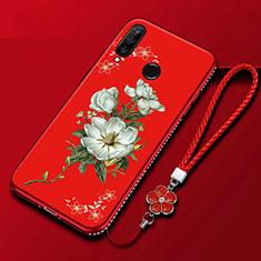 Coque Silicone Fleurs Souple Couleur Unie Etui Housse pour Huawei Enjoy 9s Colorful