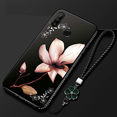 Coque Silicone Fleurs Souple Couleur Unie Etui Housse pour Huawei Honor 20E Mixte