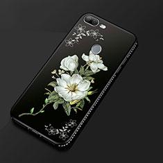 Coque Silicone Fleurs Souple Couleur Unie Etui Housse pour Huawei Honor 9 Lite Noir