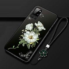 Coque Silicone Fleurs Souple Couleur Unie Etui Housse pour Huawei Honor Play4 Pro 5G Blanc