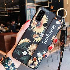 Coque Silicone Fleurs Souple Couleur Unie Etui Housse pour Huawei Honor Play4T Orange