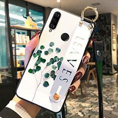 Coque Silicone Fleurs Souple Couleur Unie Etui Housse pour Huawei P30 Lite Vert
