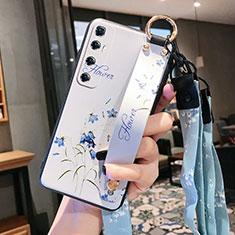 Coque Silicone Fleurs Souple Couleur Unie Etui Housse pour Xiaomi Mi 10 Ultra Blanc