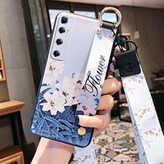 Coque Silicone Fleurs Souple Couleur Unie Etui Housse pour Xiaomi Mi 10 Ultra Bleu Ciel