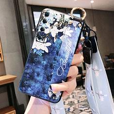 Coque Silicone Fleurs Souple Couleur Unie Etui Housse pour Xiaomi Mi 10 Ultra Bleu Royal