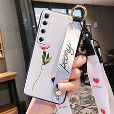 Coque Silicone Fleurs Souple Couleur Unie Etui Housse pour Xiaomi Mi 10 Ultra Rose