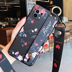 Coque Silicone Fleurs Souple Couleur Unie Etui Housse pour Xiaomi Mi 11 5G Noir