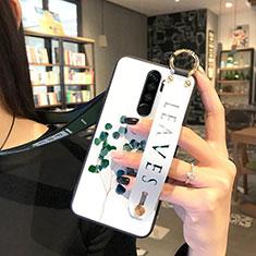 Coque Silicone Fleurs Souple Couleur Unie Etui Housse pour Xiaomi Redmi Note 8 Pro Vert