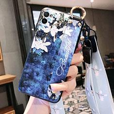 Coque Silicone Fleurs Souple Couleur Unie Etui Housse S01 pour Huawei Honor Play4 Pro 5G Bleu