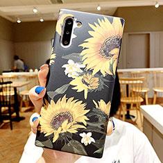 Coque Silicone Fleurs Souple Couleur Unie Etui Housse S01 pour Samsung Galaxy Note 10 5G Mixte