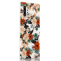 Coque Silicone Fleurs Souple Couleur Unie Etui Housse S02 pour Samsung Galaxy Note 10 Plus Mixte