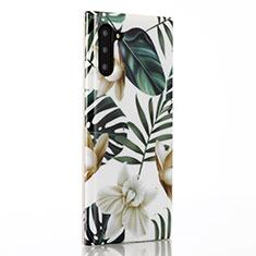 Coque Silicone Fleurs Souple Couleur Unie Etui Housse S02 pour Samsung Galaxy Note 10 Vert