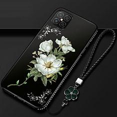 Coque Silicone Fleurs Souple Couleur Unie Etui Housse S03 pour Huawei Nova 8 SE 5G Noir
