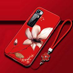 Coque Silicone Fleurs Souple Couleur Unie Etui Housse S03 pour Xiaomi Mi 10 Ultra Rose