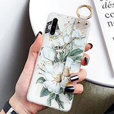 Coque Silicone Fleurs Souple Couleur Unie Etui Housse S05 pour Huawei P30 Vert