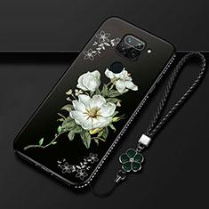 Coque Silicone Fleurs Souple Couleur Unie Etui Housse S05 pour Xiaomi Redmi 10X 4G Blanc