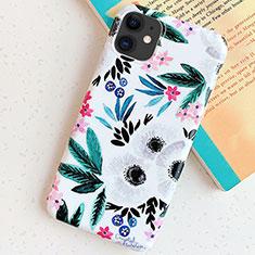 Coque Silicone Fleurs Souple Couleur Unie Etui Housse S06 pour Apple iPhone 11 Cyan