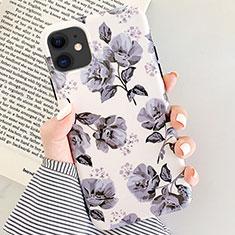 Coque Silicone Fleurs Souple Couleur Unie Etui Housse S07 pour Apple iPhone 11 Gris