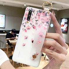 Coque Silicone Fleurs Souple Couleur Unie Etui Housse S10 pour Huawei P30 Rose