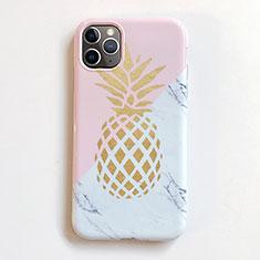 Coque Silicone Fruit Souple Couleur Unie Etui Housse pour Apple iPhone 11 Pro Max Rose
