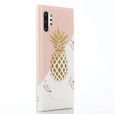 Coque Silicone Fruit Souple Couleur Unie Etui Housse S01 pour Samsung Galaxy Note 10 Plus 5G Rose