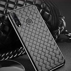 Coque Silicone Gel Motif Cuir Housse Etui A01 pour Huawei Enjoy 9s Noir