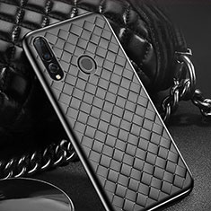Coque Silicone Gel Motif Cuir Housse Etui A01 pour Huawei Honor 20i Noir