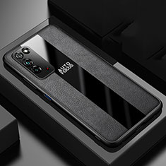 Coque Silicone Gel Motif Cuir Housse Etui H01 pour Huawei Honor X10 5G Noir