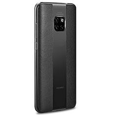 Coque Silicone Gel Motif Cuir Housse Etui H01 pour Huawei Mate 20 RS Noir