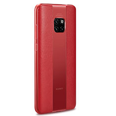 Coque Silicone Gel Motif Cuir Housse Etui H01 pour Huawei Mate 20 RS Rouge