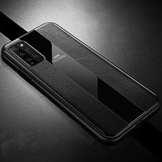 Coque Silicone Gel Motif Cuir Housse Etui H02 pour Huawei Honor 30 Lite 5G Noir