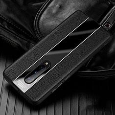 Coque Silicone Gel Motif Cuir Housse Etui H02 pour OnePlus 8 Noir