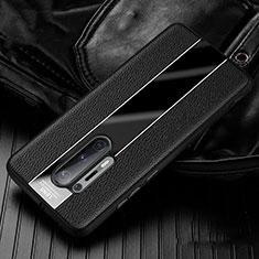 Coque Silicone Gel Motif Cuir Housse Etui H02 pour OnePlus 8 Pro Noir