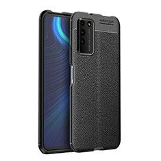 Coque Silicone Gel Motif Cuir Housse Etui H03 pour Huawei Honor X10 5G Noir