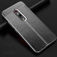 Coque Silicone Gel Motif Cuir Housse Etui H03 pour Xiaomi Mi 9T Pro Gris