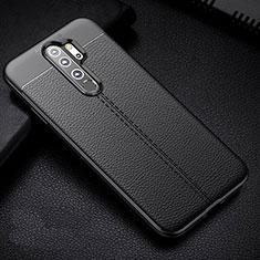 Coque Silicone Gel Motif Cuir Housse Etui H03 pour Xiaomi Redmi Note 8 Pro Noir