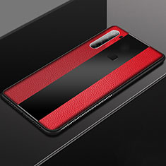 Coque Silicone Gel Motif Cuir Housse Etui H03 pour Xiaomi Redmi Note 8 Rouge