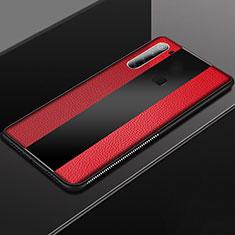 Coque Silicone Gel Motif Cuir Housse Etui H03 pour Xiaomi Redmi Note 8T Rouge