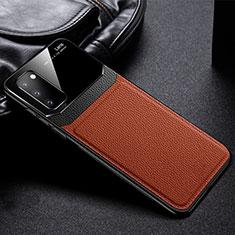 Coque Silicone Gel Motif Cuir Housse Etui H04 pour Samsung Galaxy S20 5G Marron