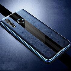Coque Silicone Gel Motif Cuir Housse Etui H05 pour Huawei Honor 20 Lite Bleu
