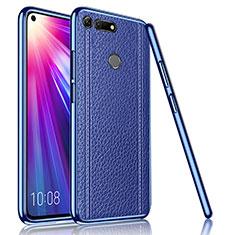 Coque Silicone Gel Motif Cuir Housse Etui M02 pour Huawei Honor V20 Bleu