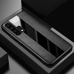 Coque Silicone Gel Motif Cuir Housse Etui pour Huawei Honor 20 Pro Noir