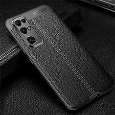 Coque Silicone Gel Motif Cuir Housse Etui pour Huawei Honor 30 Noir