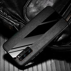 Coque Silicone Gel Motif Cuir Housse Etui pour Huawei Honor 30 Pro Noir