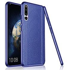 Coque Silicone Gel Motif Cuir Housse Etui pour Huawei Honor Magic 2 Bleu